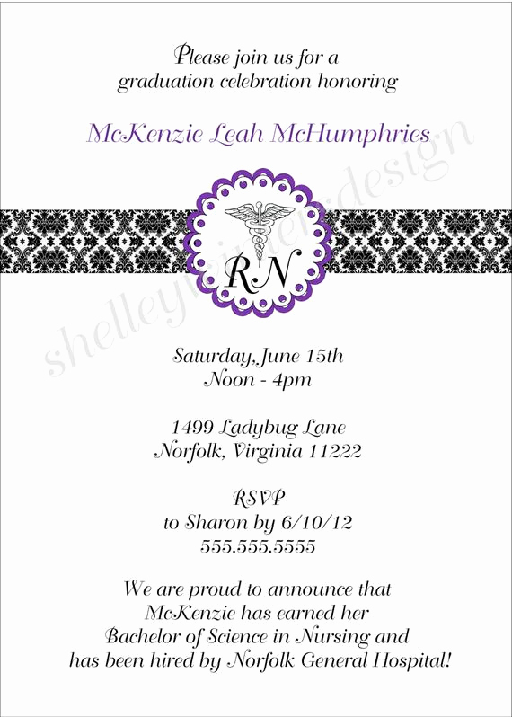 Nurse Graduation Invitation Template Beautiful Items Similar to Nurse Graduation Pinning Ceremony