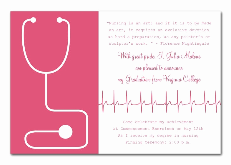 Nurse Graduation Invitation Template Beautiful Nurse Graduation Invitations Printable Cobypic