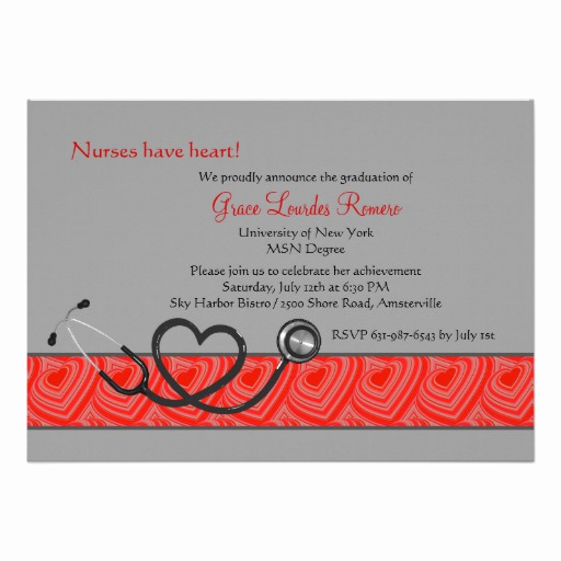 Nurse Graduation Invitation Template Fresh Nurses Have Heart Graduation Invitation