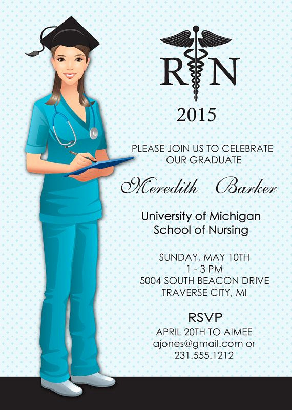 Nursing Graduation Invitation Templates Free Awesome 91 Best Images About Nurse Graduation Announcements