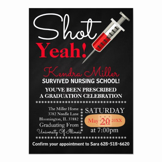 Nursing Graduation Invitation Templates Free Beautiful Shot Yeah Nursing School Graduation Invitation