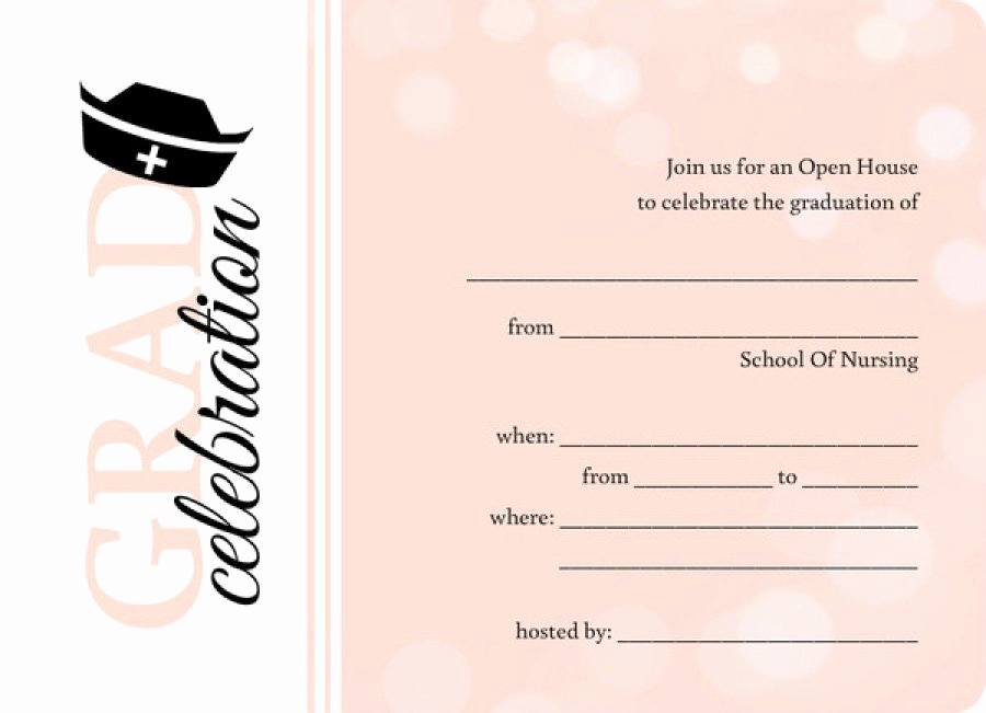 Nursing Graduation Invitation Templates Free Unique 40 Free Graduation Invitation Templates Template Lab