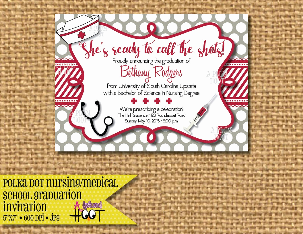 medical or nursing school graduation