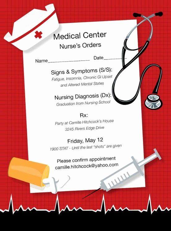 Nursing Graduation Party Invitation Wording Lovely Nice Idea for Nurse Graduate Invite for