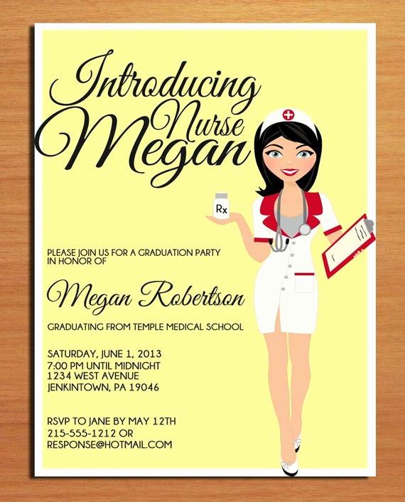 Nursing Graduation Party Invitation Wording Lovely Nursing Pharmacist Medical Degree Graduation Party