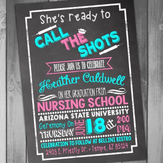 Nursing Graduation Party Invitation Wording Lovely Nursing School Graduation Invitation Graduation Party College