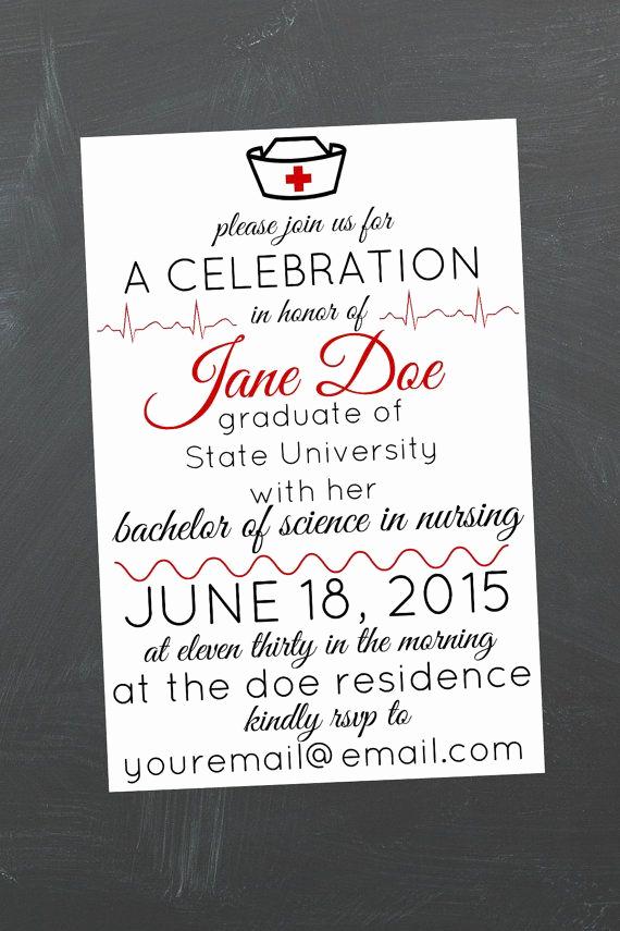 Nursing Graduation Party Invitation Wording Unique 17 Best Ideas About Nursing School Graduation On Pinterest