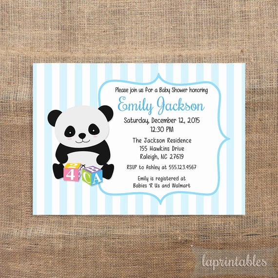 Office Baby Shower Invitation Beautiful Panda Baby Shower Invitation Baby Boy Invitation by