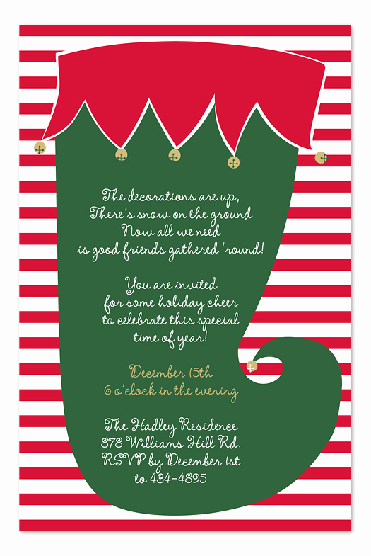 Office Christmas Party Invitation Wording Awesome Jingle Stocking Holiday Invitations by Invitation