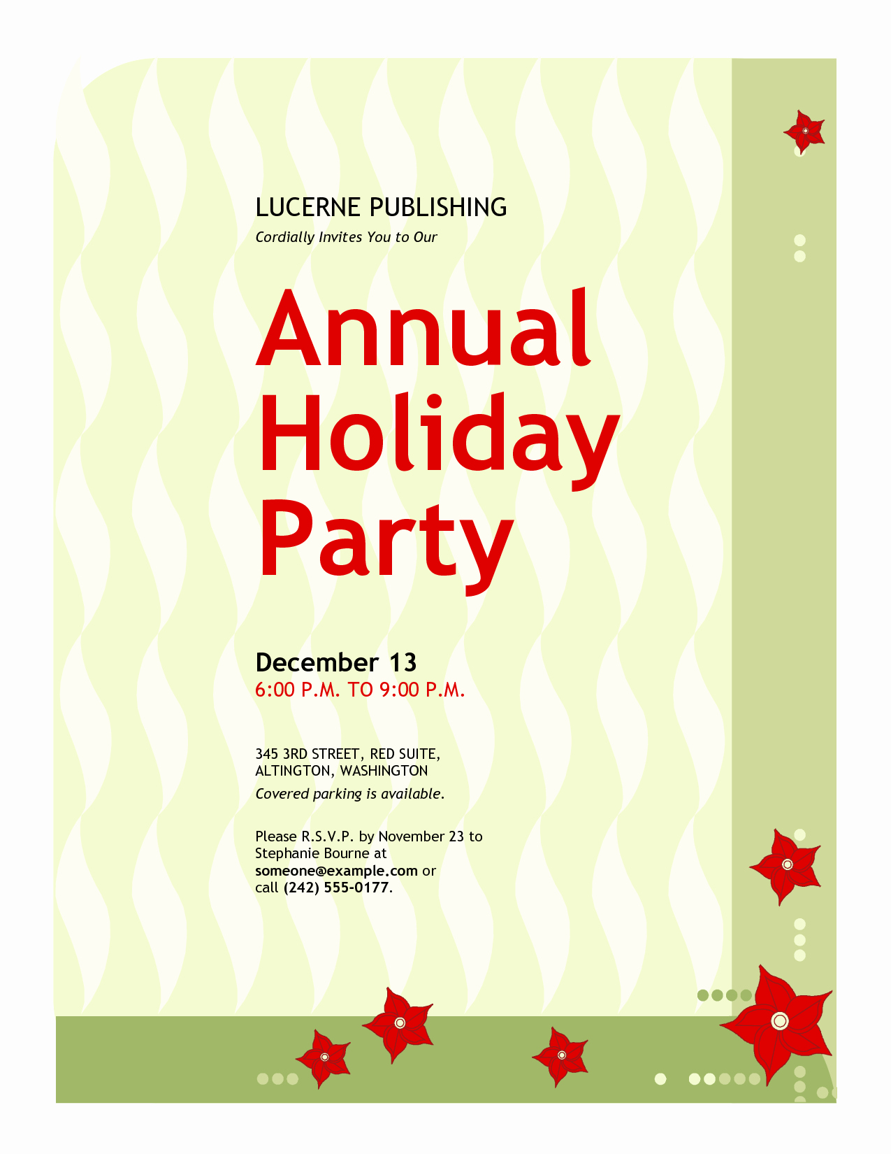 Office Christmas Party Invitation Wording Lovely Work Christmas Party Invitation Template – Festival