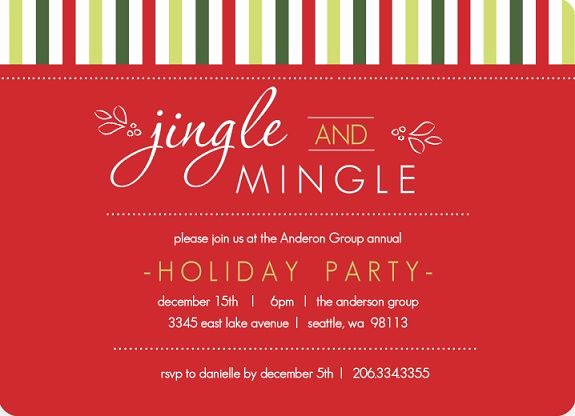 Office Christmas Party Invitation Wording New Business Holiday Party Invites Invites