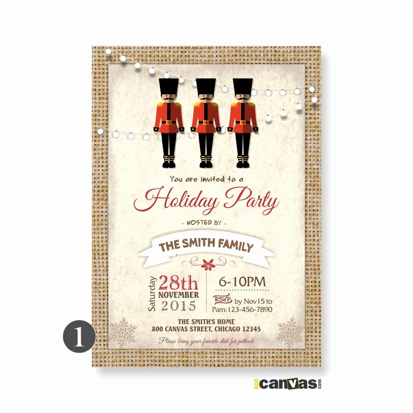 Office Holiday Party Invitation Wording Fresh Nutcracker Invitation Christmas Party Invitations
