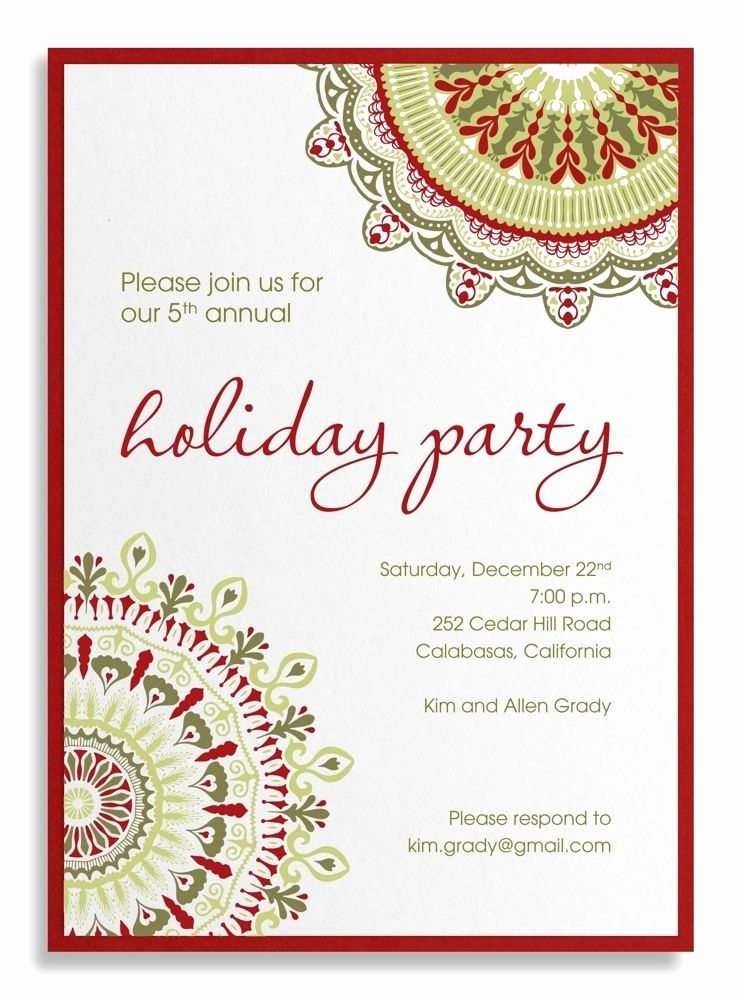 Office Holiday Party Invitation Wording Lovely Pany Party Invitation Sample