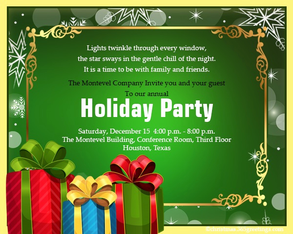 Office Holiday Party Invitation Wording New Christmas Invitation Template and Wording Ideas