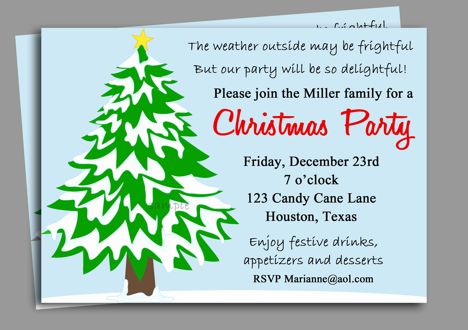 Office Holiday Party Invitation Wording Unique Christmas Party Invitation Printable Winter Wonderland