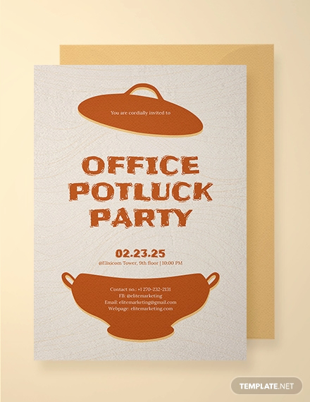 Office Potluck Invitation Wording Lovely 13 Potluck Email Invitation Templates Psd Ai