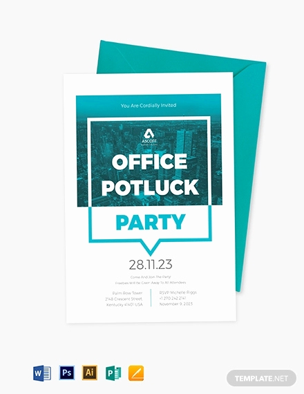 Office Potluck Invitation Wording Luxury 18 Awesome Potluck Invitation Designs & Creatives Psd