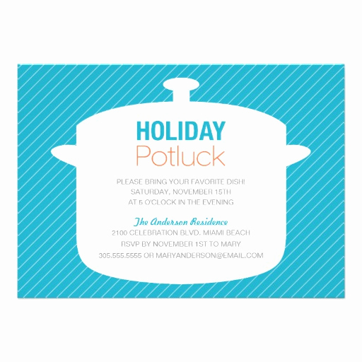 Office Potluck Invitation Wording New Blue Crock Pot