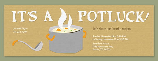 Office Potluck Invitation Wording New Free Potluck Invitations