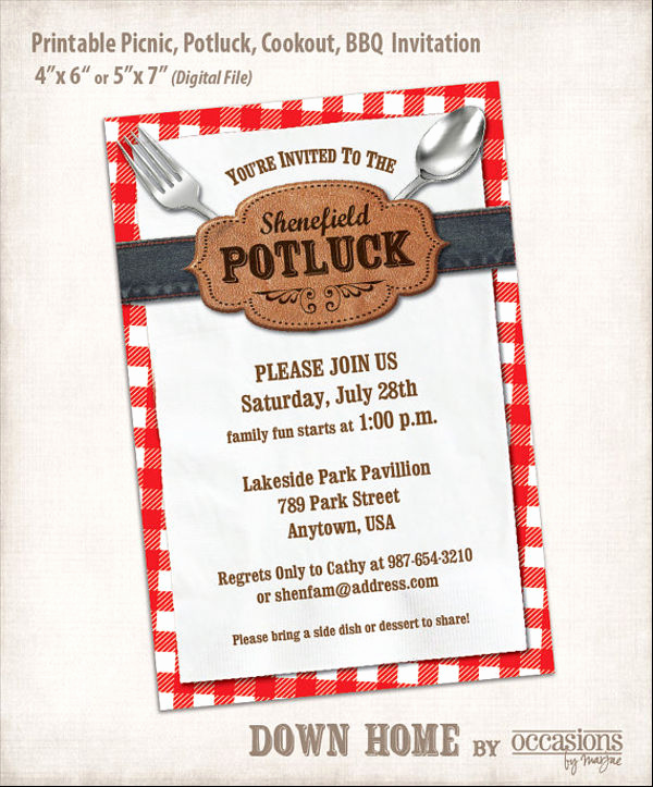 Office Potluck Invitation Wording Samples Awesome 13 Potluck Email Invitation Templates Psd Ai