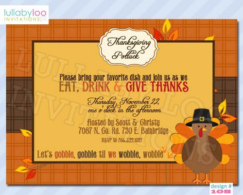 Office Potluck Invitation Wording Samples Awesome Thanksgiving Potluck Invitation Rhyme