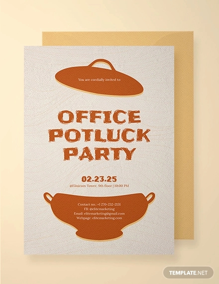 Office Potluck Invitation Wording Samples Fresh 18 Awesome Potluck Invitation Designs & Creatives Psd