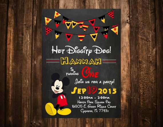 Oh Two Dles Invitation Awesome Oh Two Dles Mickey Mouse Birthday Invitation Printable or