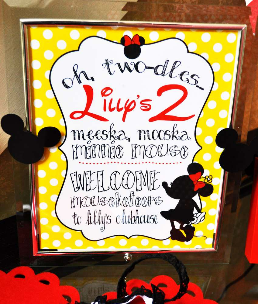 Oh Two Dles Invitation Elegant Mickey Mouse Clubhouse or Minnie Mouse Birthday Party