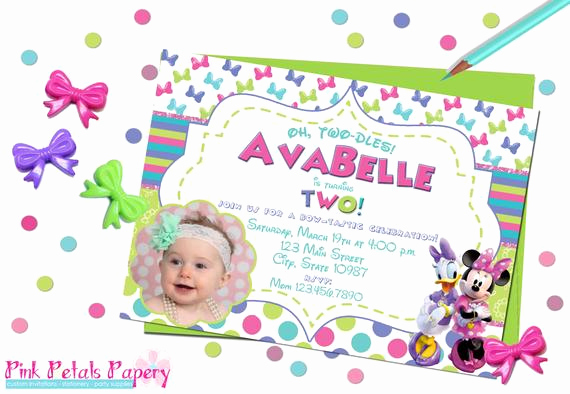 Oh Two Dles Invitation Inspirational Oh Two Dles Minnie Mouse Birthday Invitation by