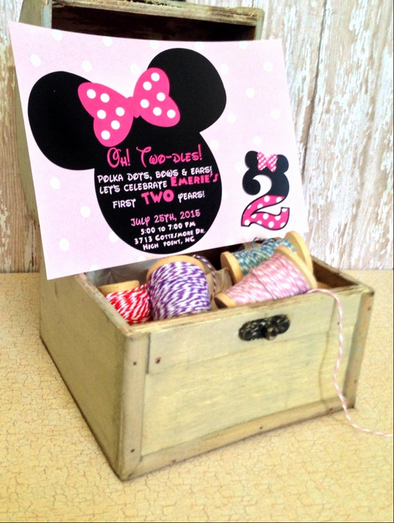 Oh Two Dles Invitation Inspirational Oh Two Dles Minnie Mouse Invitation Custom by