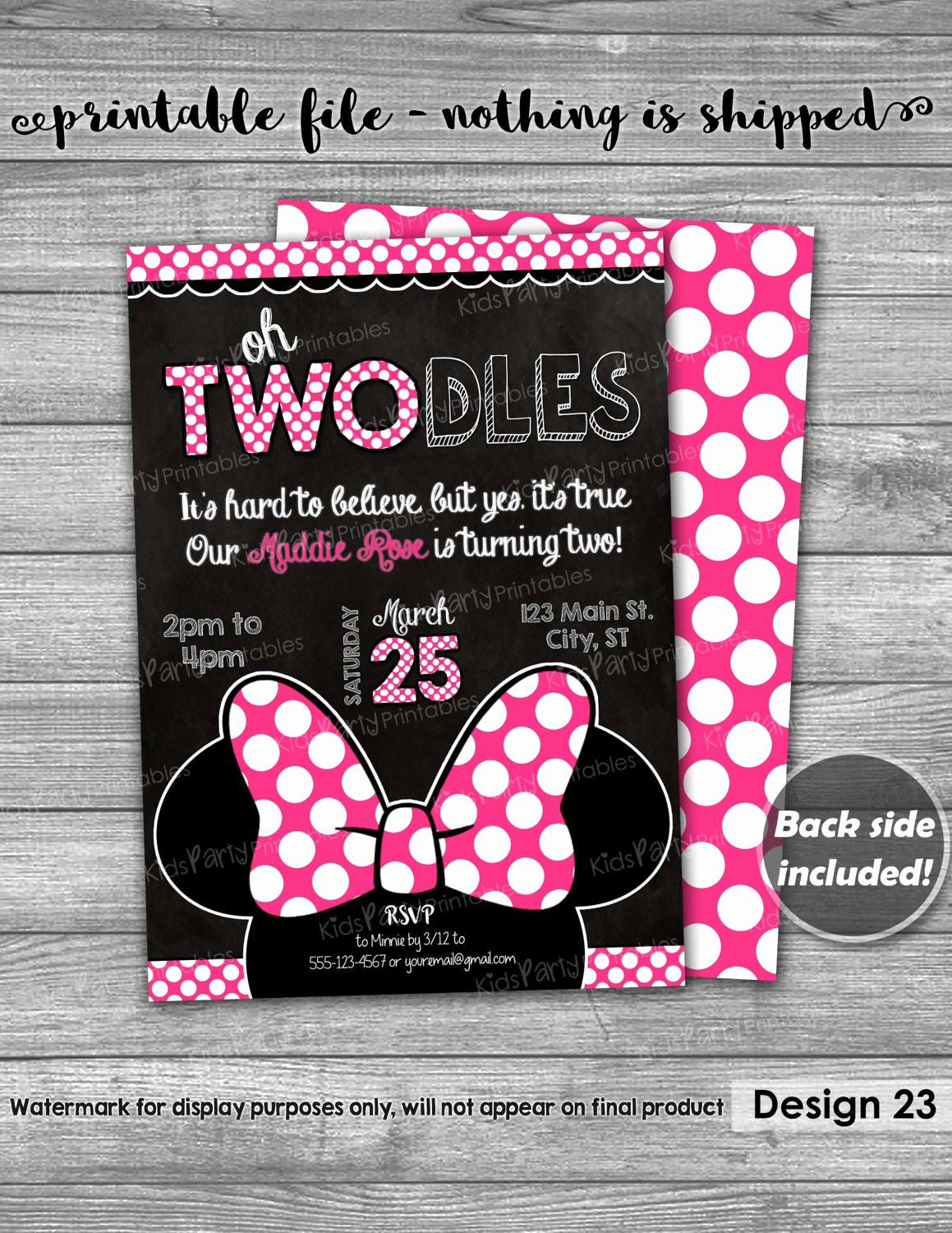 Oh Two Dles Invitation New Oh Twodles Birthday Invitation Printable Oh Twodles