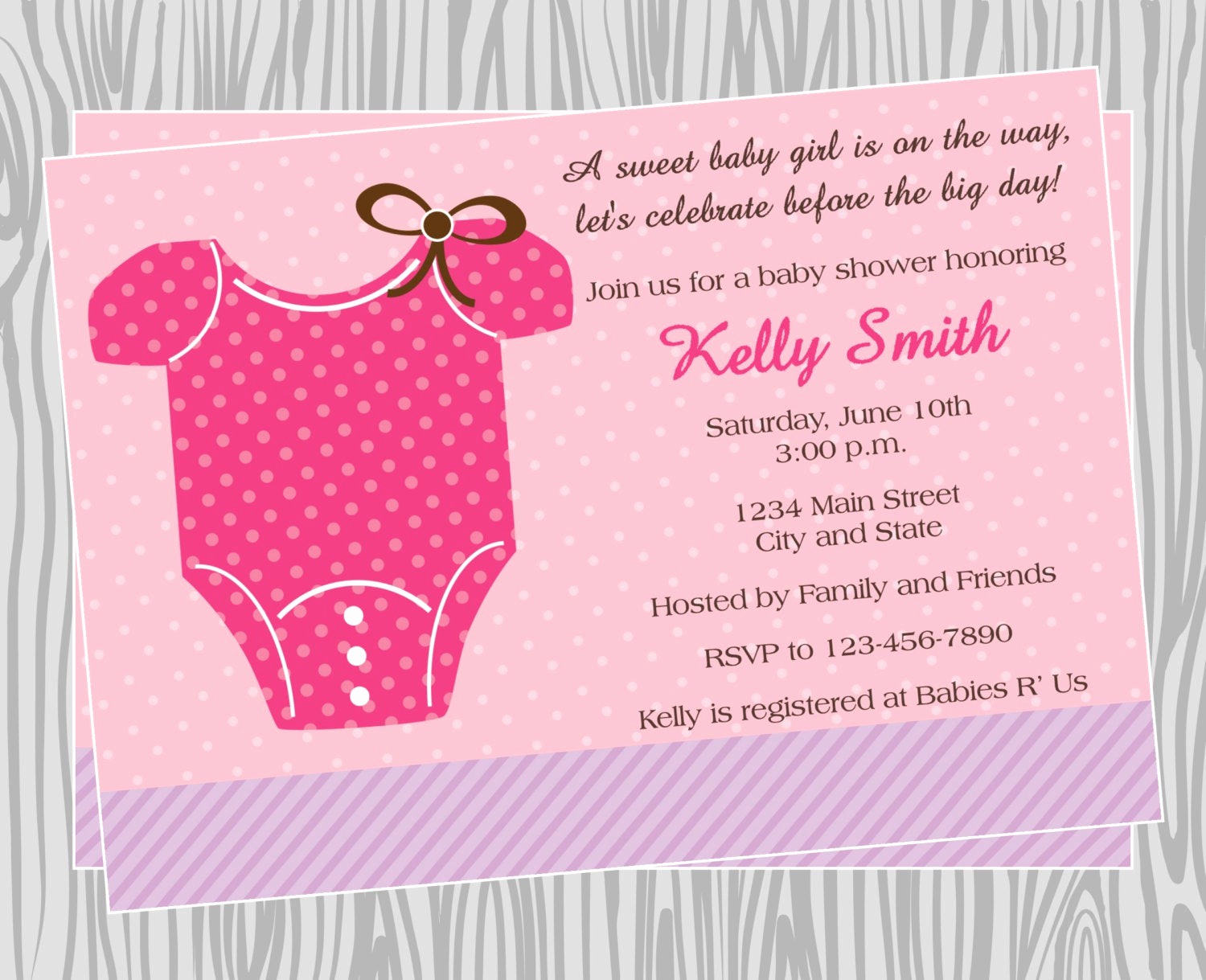 Onesie Baby Shower Invitation Awesome Diy Baby Girl Esie Baby Shower Invitation Coordinating