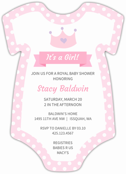 Onesie Baby Shower Invitation Inspirational Pink Esie Girl Baby Shower Invitation