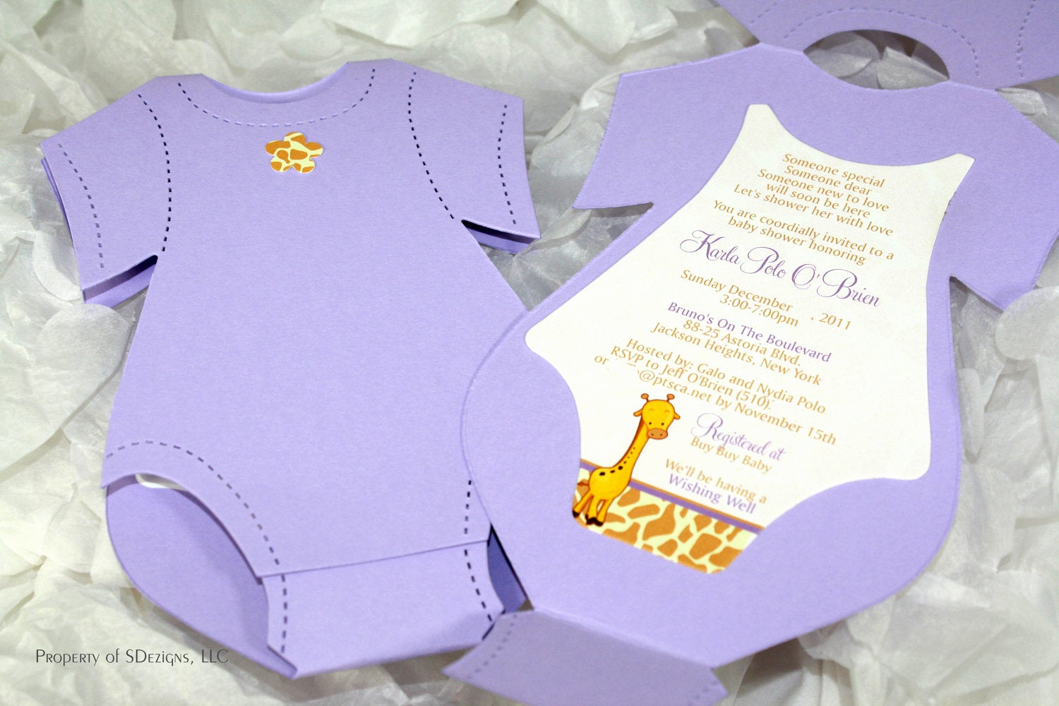 Onesie Baby Shower Invitation Lovely Esie Baby Shower Invitation Baby Announcement Giraffe