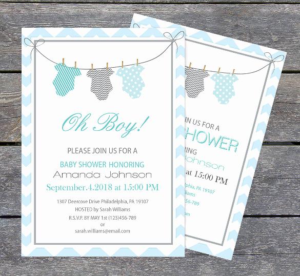 Onesie Baby Shower Invitation Template Fresh 11 Esie Invitation Templates Free Sample Example