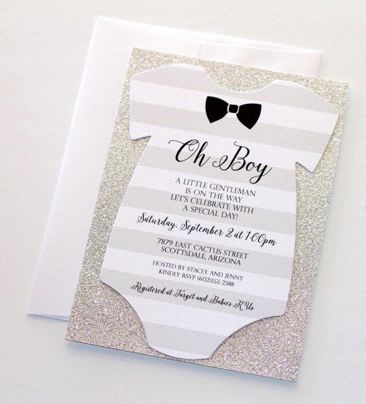 Onesie Baby Shower Invitation Template Fresh Baby Shower Esie Invitation Glitter Shower Invitation