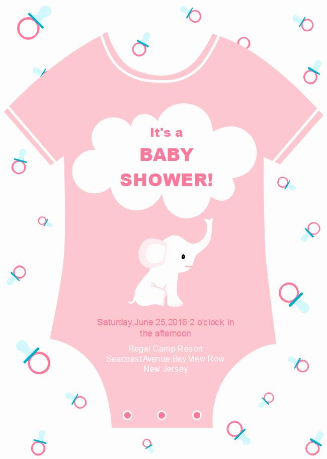 Onesie Baby Shower Invitation Template Inspirational Esie Baby Shower Invitation