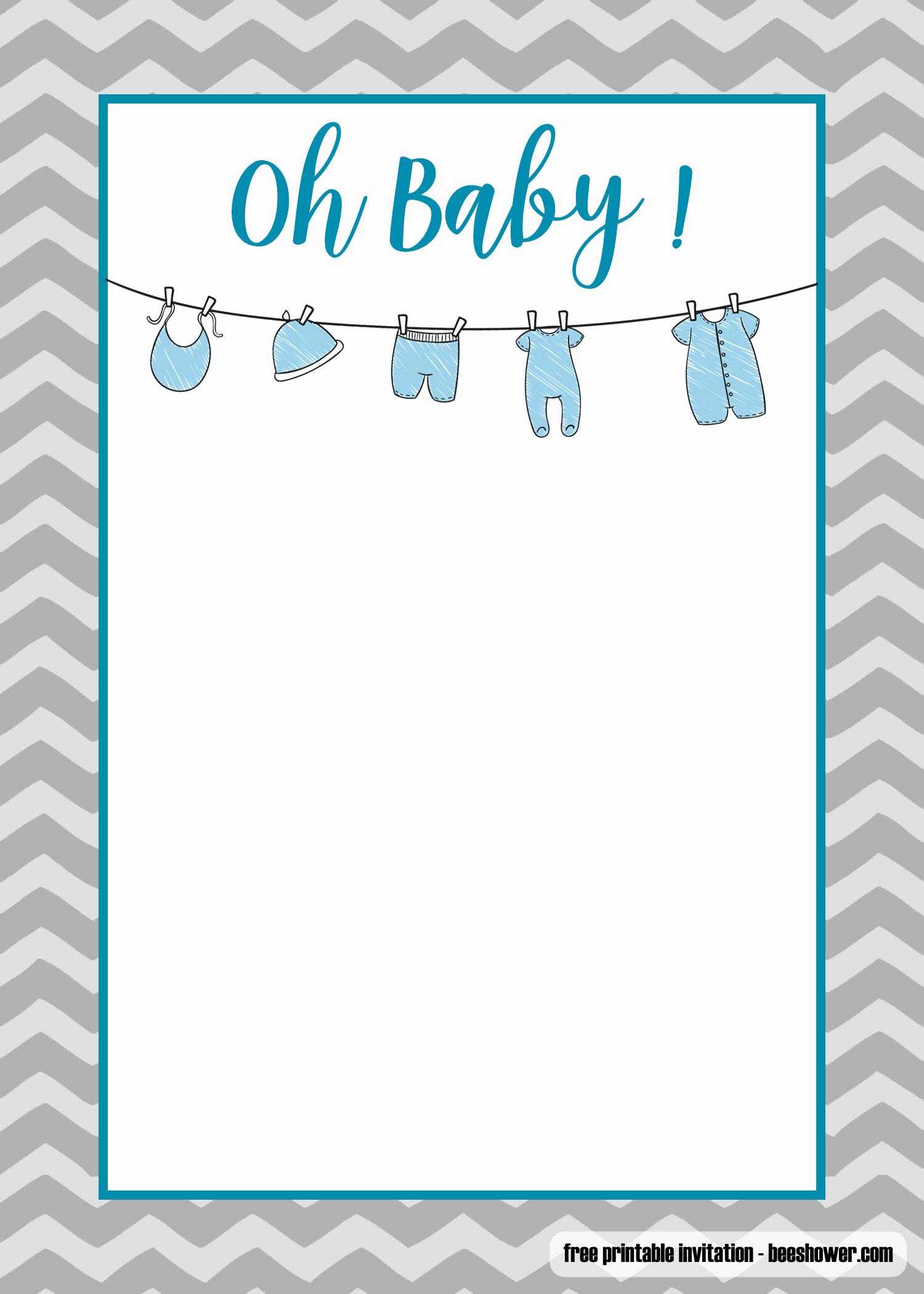Onesie Baby Shower Invitation Template Luxury Free Printable Esie Baby Shower Invitations Templates