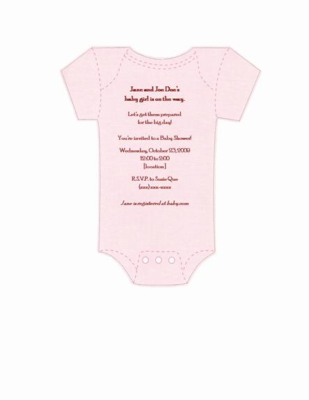 Onesie Baby Shower Invitation Template Unique Best S Of Esie Template for Baby Shower Invitation