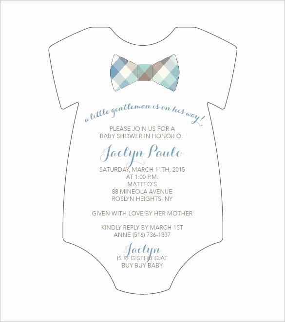 Onesie Baby Shower Invitation Unique 20 Esie Templates Psd Pdf