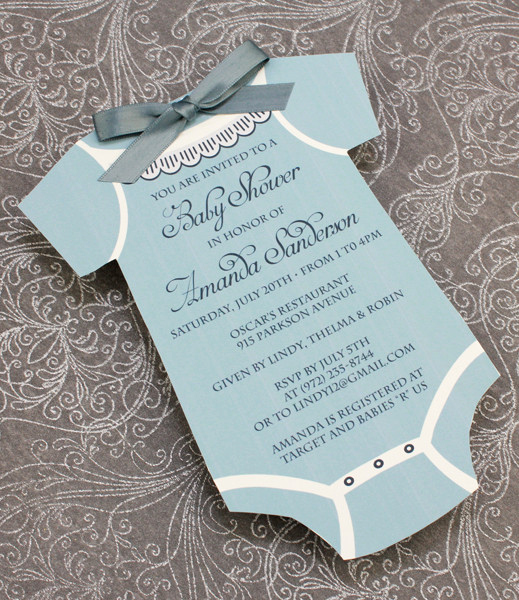 Onesie Baby Shower Invitation Unique Baby Shower Invitation Template Boys Sie – Download & Print