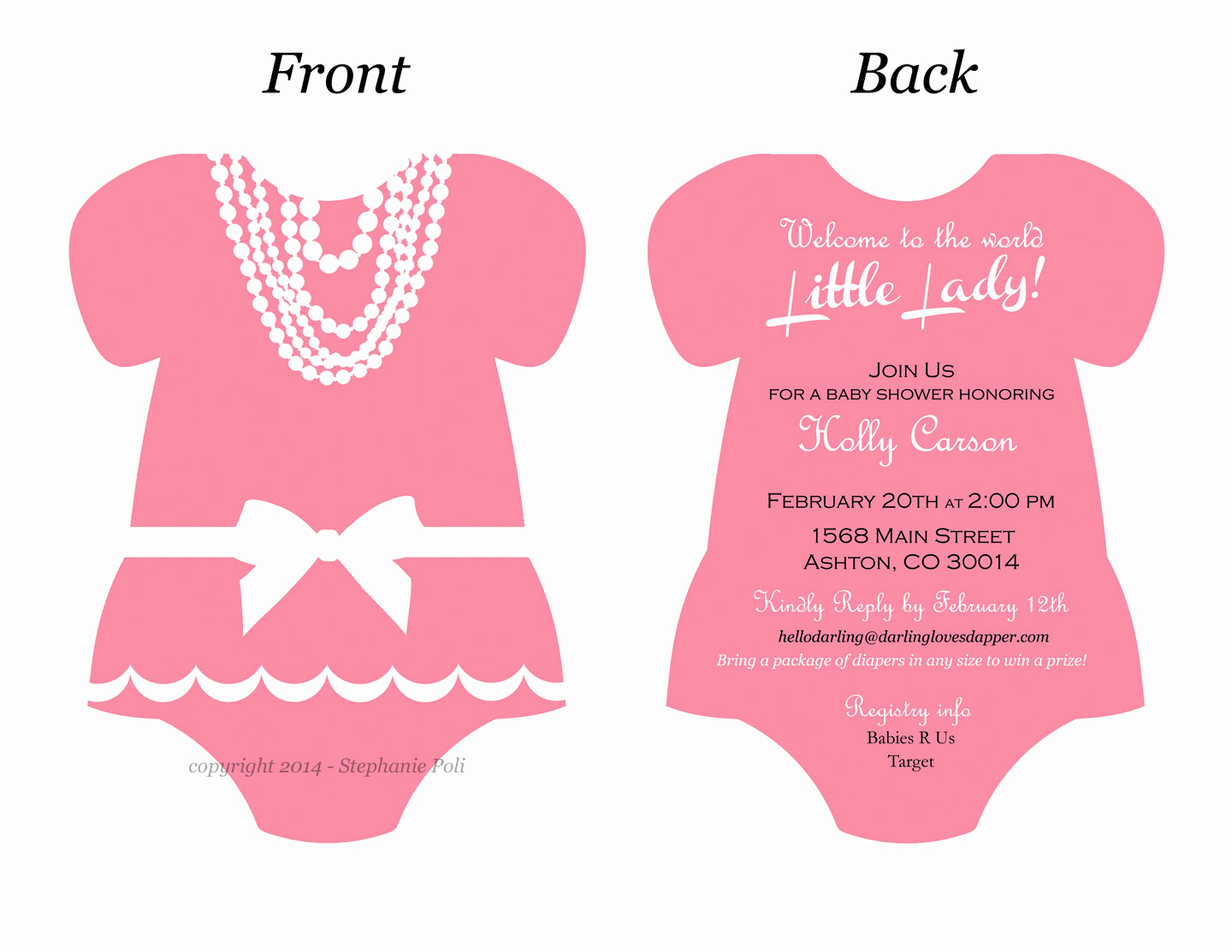 Onesie Invitation Template Printable Fresh Esie Invitation Templates