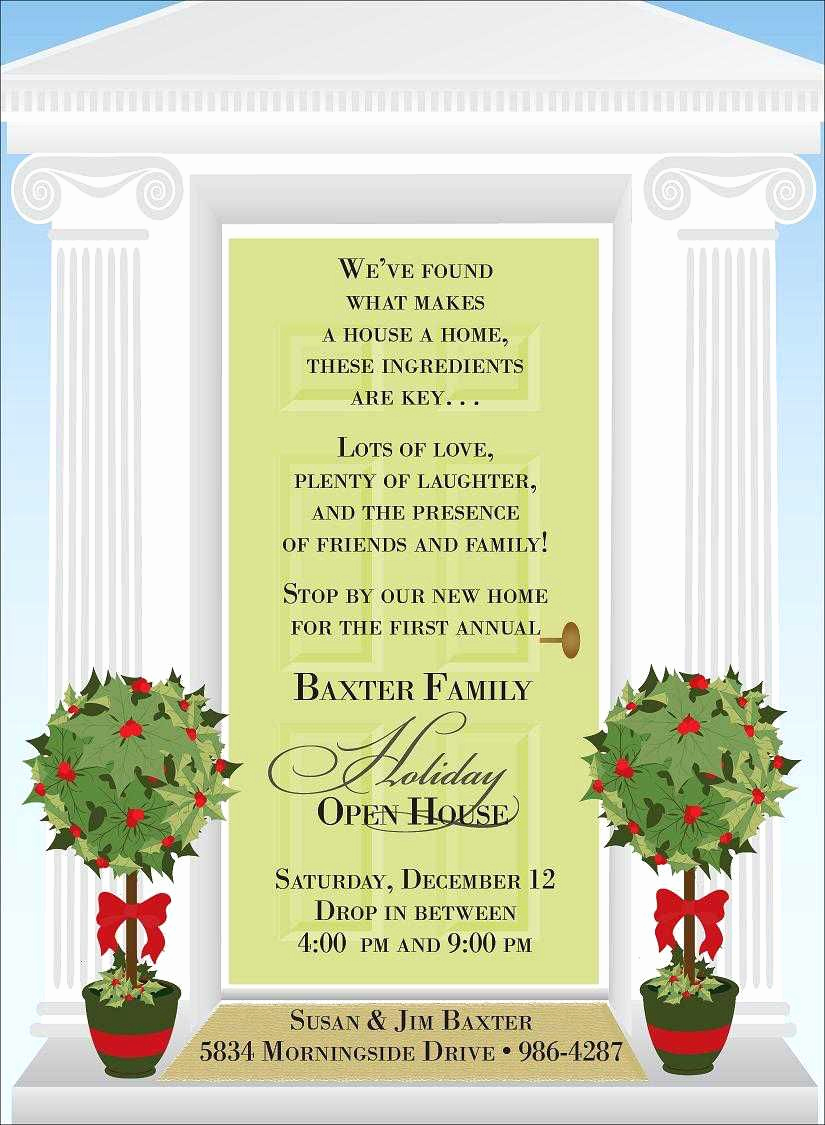 Open House Invitation Example Fresh Christmas Open House Invitations