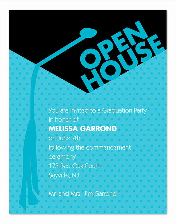 Open House Invitation Example Inspirational 49 Graduation Invitation Designs & Templates Psd Ai