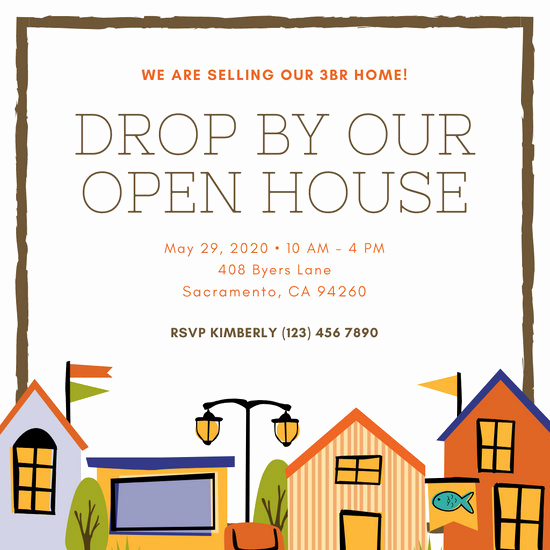 Open House Invitation Examples Awesome Customize 157 Open House Invitation Templates Online Canva