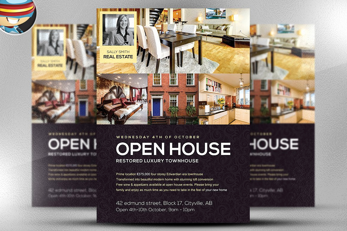 Open House Invitation Examples Best Of Open House Flyer Template Flyer Templates Creative Market