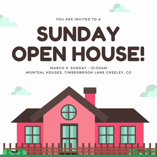 Open House Invitation Examples Fresh Customize 157 Open House Invitation Templates Online Canva