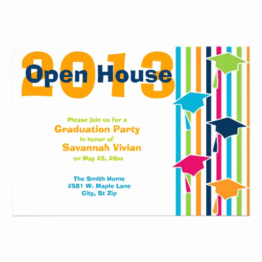 "Open House Invitation Examples Inspirational Graduation Party Open House Invitations 5"" X 7"" Invitation"