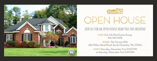 Open House Invitation Examples Luxury Open House Free Online Invitations