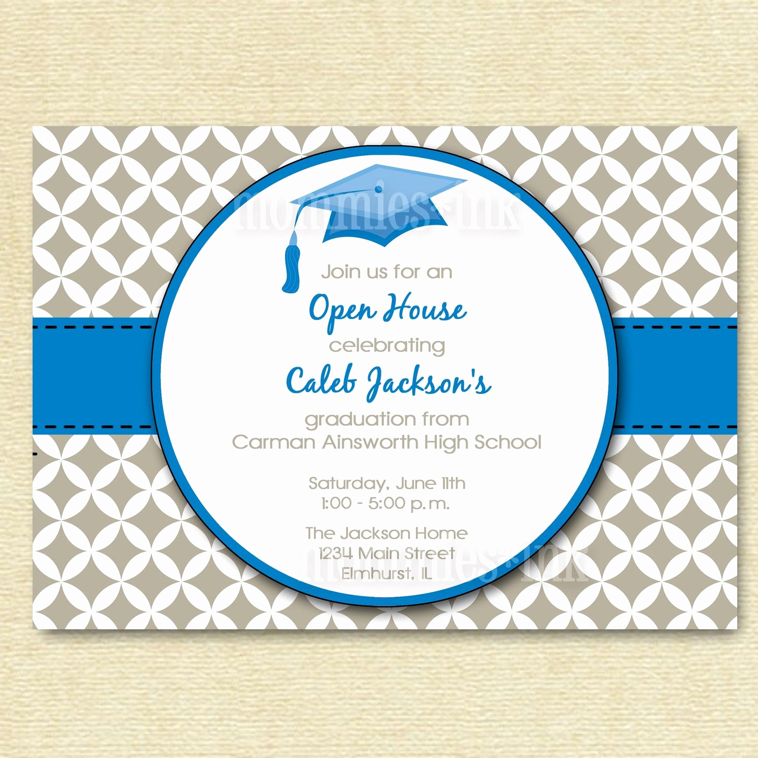 Open House Invitation Ideas Inspirational Mod Simple Quatrefoil 2 Graduation Open House by